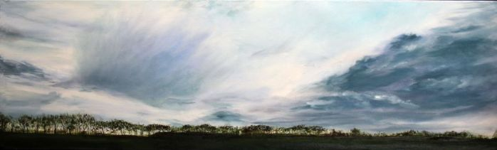 Kate Cunningham_Original_Oils_Clouds over Pitskelly_12 x 39 (2)
