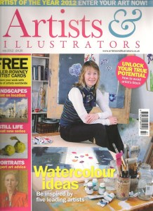Artists and Illustrators July 2012 cover