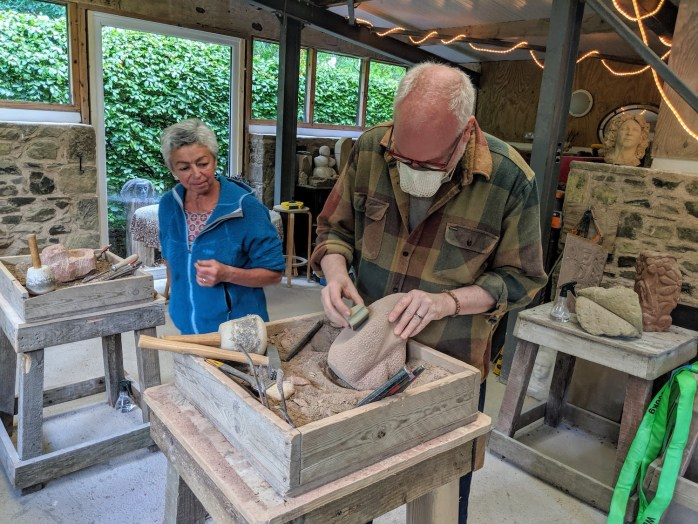 Bespoke stonecarving experience in Scotland