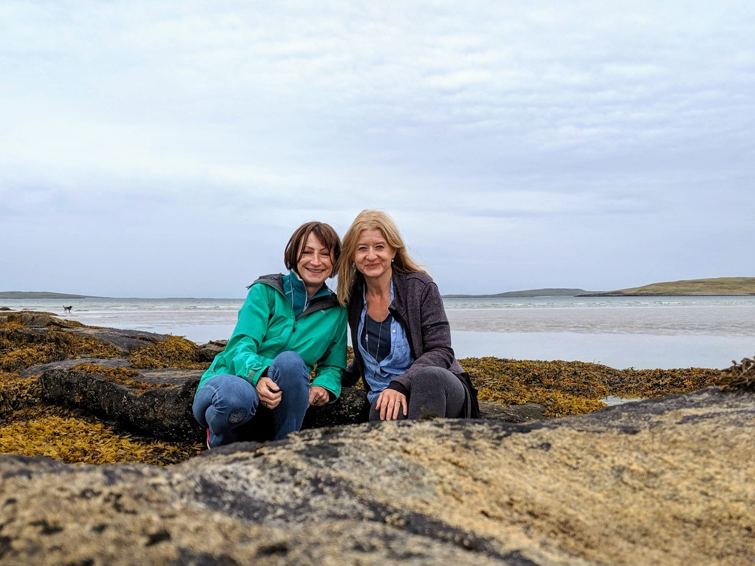 Ute and Nicky from Wild at Art in North Uist