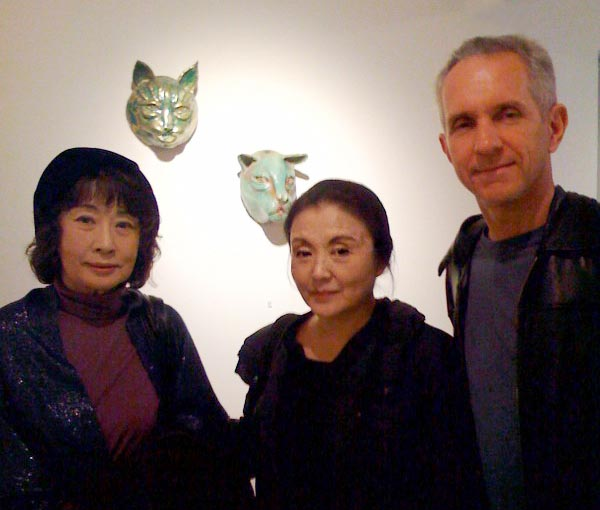 Doll Sisters Kazuko Yoshiyuki and Mieko Yuki with Charles Wildbank