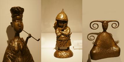Siberian bronze sculptures by Zorikto Dorzhiev