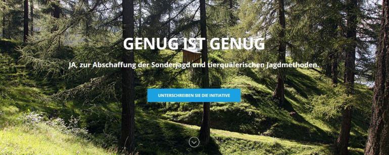 Volksinitiative: Graubünden und das Jäger Problem