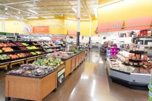 Sicht- und Geruchschutz vor Fleisch in Supermärkten