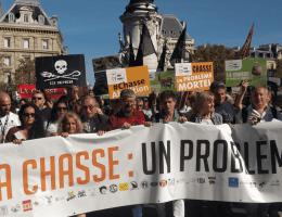 Anti Jagd Demo Frankreich
