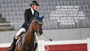 Petition: Kein Pferdesport an Olympischen Spielen