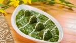Fritierter Spinat- und Käsebällchen