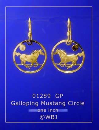 Wild Bryde Earrings : bryde, earrings, Bryde, Galloping, Mustang, Circle, Earrings