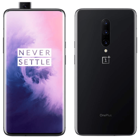 Top-rated android smartphones, front and back view of the OnePlus 7 Pro
