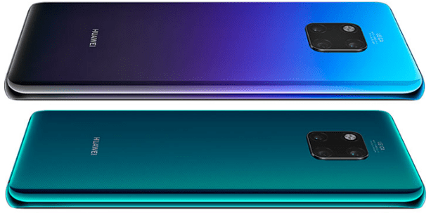 Back view of the Huawei Mate 20 Pro, latest Huawei smartphones