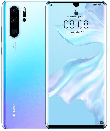 latest Huawei smartphones, the Crystal Huawei P30 Pro
