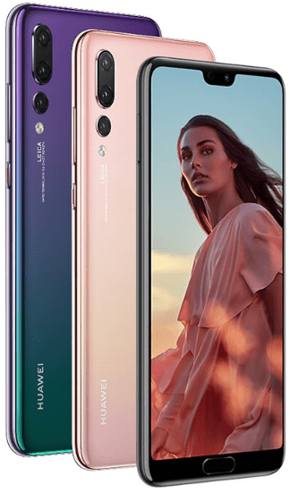 Front and back view of the Huawei P20 Pro, latest Huawei smartphones