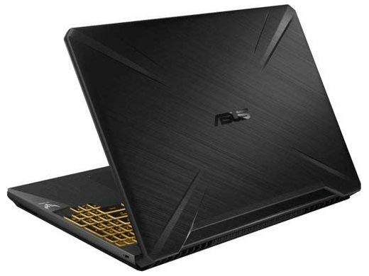 Back view of the Asus TUF Gaming Laptop FX505