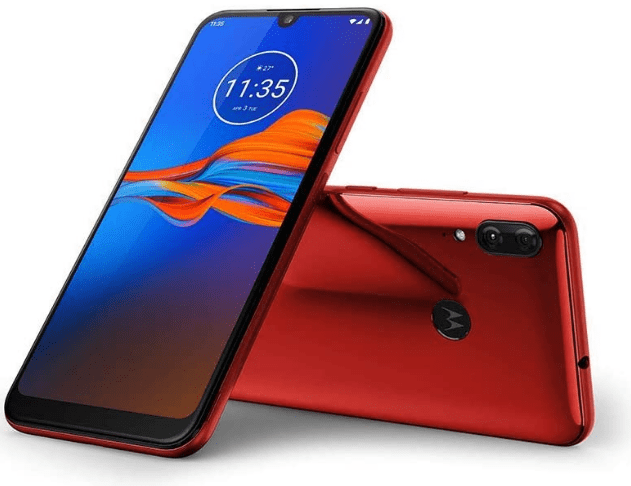 best budget android phone, red Moto E6 Plus