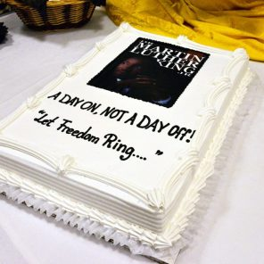 Cake for Martin Luther King Jr Day Army photo by Visual Information Specialist Paolo