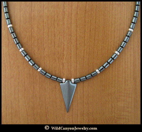 Hematite arrowhead pendant necklace wildcanyonjewelry hematite arrowhead pendant necklace aloadofball Image collections