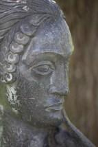 Sissinghurst - Statue in White garden