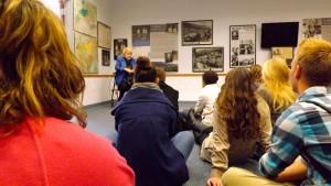 Eva (Mozes) Kor sharing her story with some of the Jasper High School seniors.