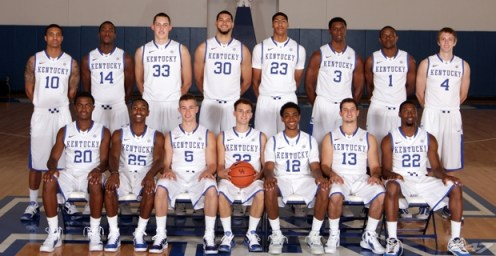 2011-2012 Kentucky Basketball Team Photo - photo from UKAthletics.com