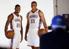 DeAndre Liggins, left, and Daniel Orton - photo by Nate Billings, The Oklahoman