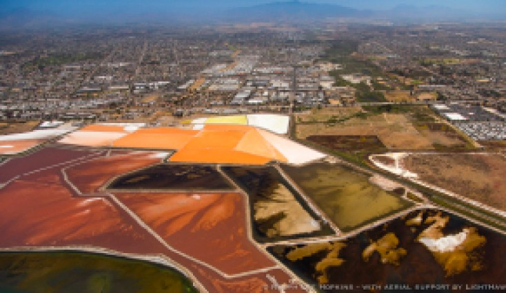 Evaporation Ponds, Lagoons, wetlands, San Diego, California