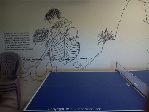 Sea House game room wall decor
