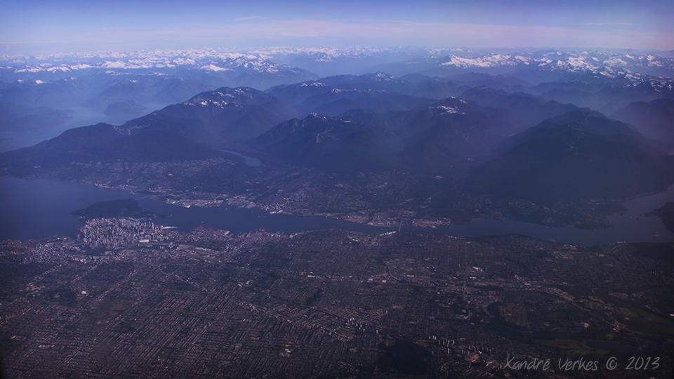 Vancouver, BC - Downtown visible on left...
