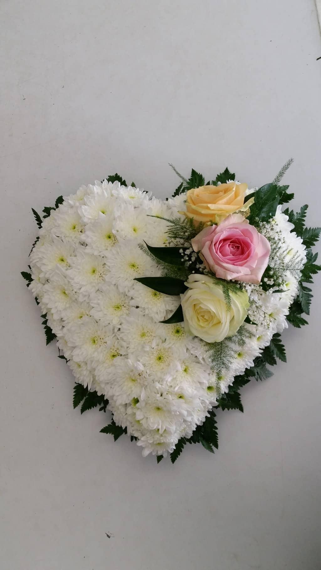 Solid Heart 12 inch   Wild Daisy Florist