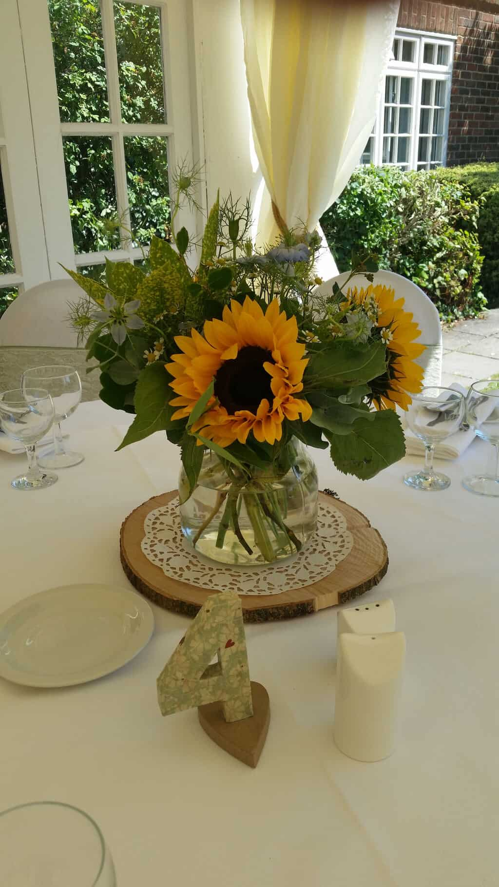 Wedding Table Center/ Sunflowers   Wild Daisy Florist