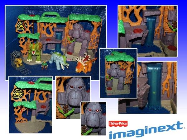 Imaginext Gorilla Mountain Playset Elephant Dinos Figure