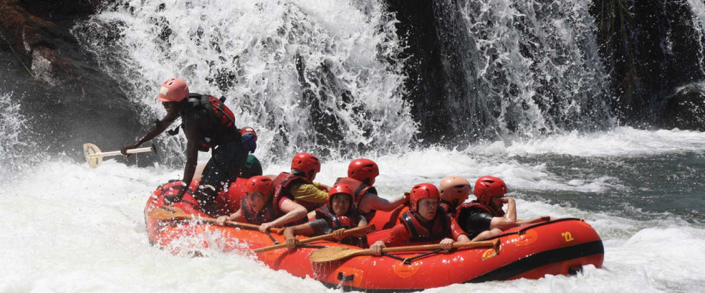Adrenaline Junkies - Whitewater Rafting at Bujagali Falls Uganda, Jinja