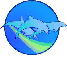 Wild Dolphin Swims Hawaii Logo