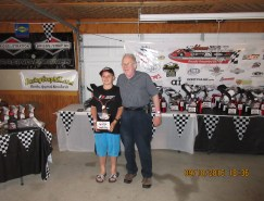 Jason and Grandpa at CES Banquet at Grattan, 2015 Champion