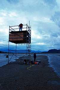 Eagle Point camera tower - Chehalis River Estuary
