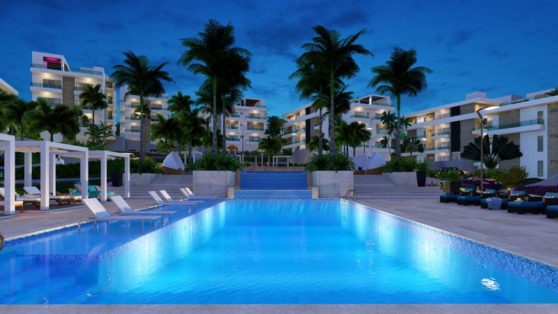 Encuentro-Beach-Condos-overview-night