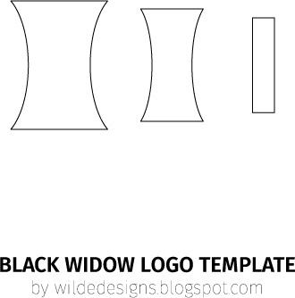 Black Widow belt logo template by Wilde Designs