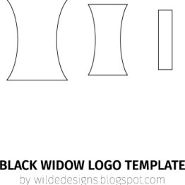 Black Widow belt logo template by Wilde Designs