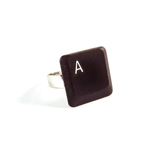 Keyboard Letter A Key Ring by Wilde Designs