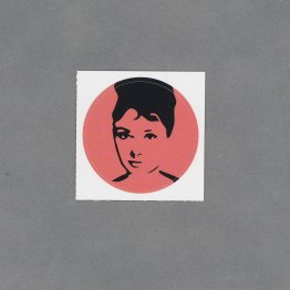Audrey Hepburn Circle Sticker by Wilde Designs