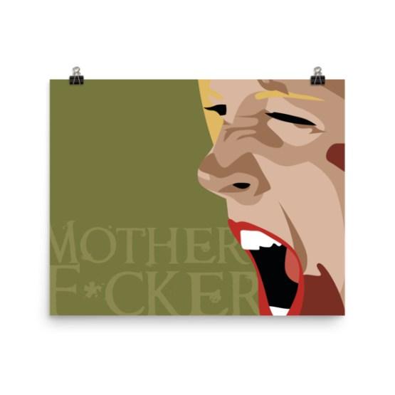 mother f*cker baby print by wilde designs