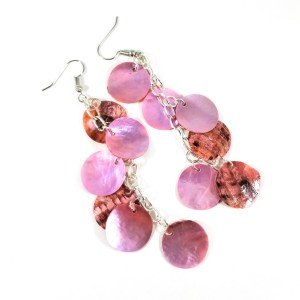 Mermaid Scale Earrings in Pink by Wilde Designs