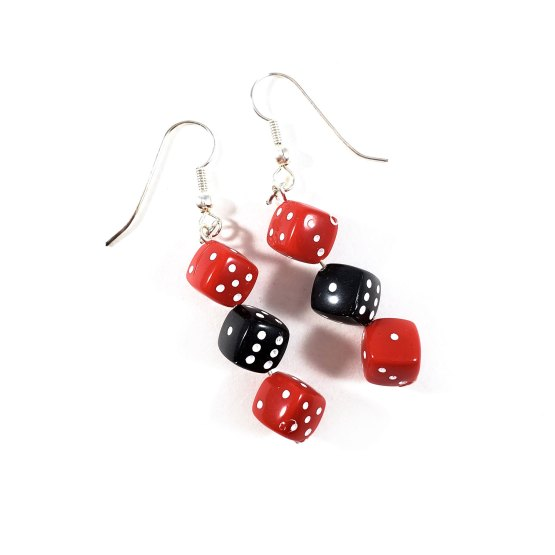 Red & Black Gamer Gear Earrings by Wilde Designs