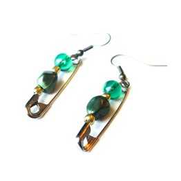 Loki Inspired Safety Pin Earrings by Wilde Designs