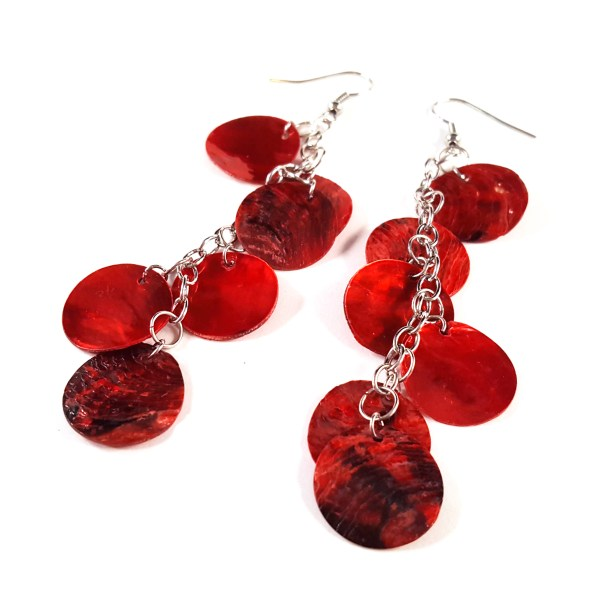 Red Dragon Scale Earrings by Wilde Designs