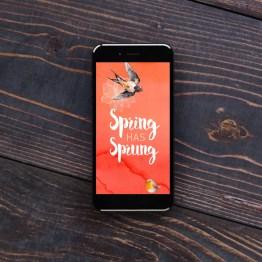 Spring Has Sprung Phone Wallpaper by Wilde Designs