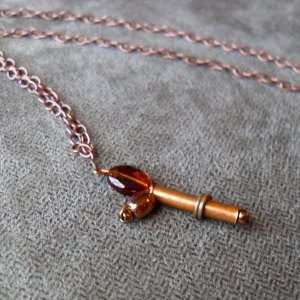 Copper Retro Ray Gun Necklace by Wilde Designs
