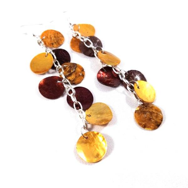 Pumpkin Spice Latte Dragon Scale Earrings by Wilde Designs
