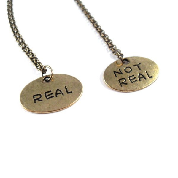 Real or Not Real Gold Necklace by Wilde Designs