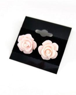 Kawaii Rose Earrings by Wilde Designs in Light Peach