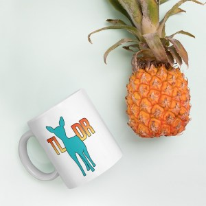 Teal Deer TLDR Mug by Wilde Designs